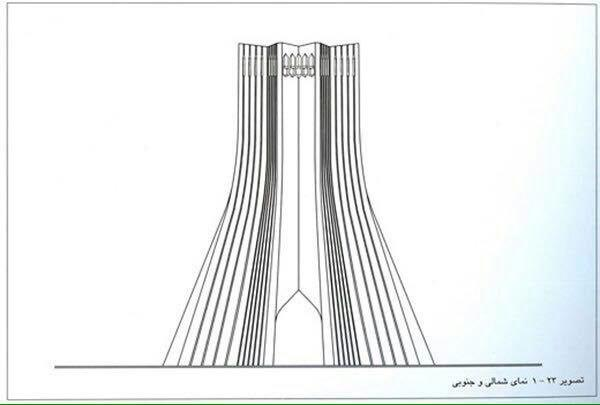 Azadi Tower (Monument) - Amanat - Elevations_Architexpert.com