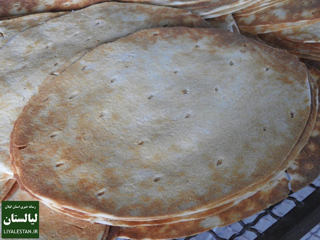 گزارش تصویری پخت نان تمیجان ، رودسر استان گیلان