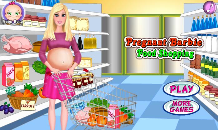 بازی دخترانه بارداری باربی