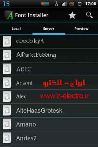 نحوه تغییر Font تبلت Dimo700  همراه با نرم افزار