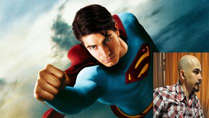 مجید حبیبی در نقش سوپرمن در فیلم بازگشت سوپرمن