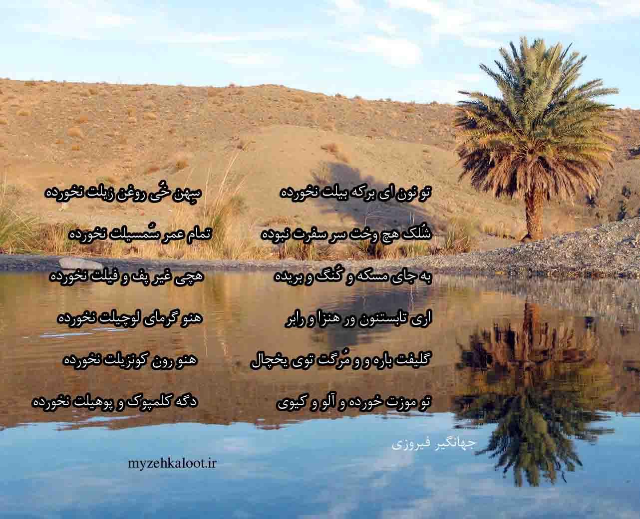 شعری زیبا از جهانگیر فیروزی