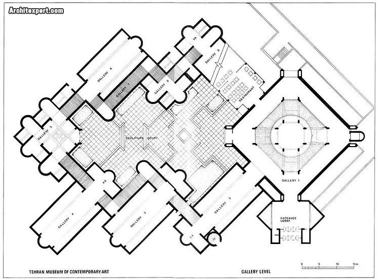 Tehran Museum of Contemporary Art - Diba - Plan_Architexpert.com