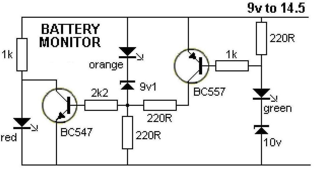 зарядки схема аккумулятора указателя