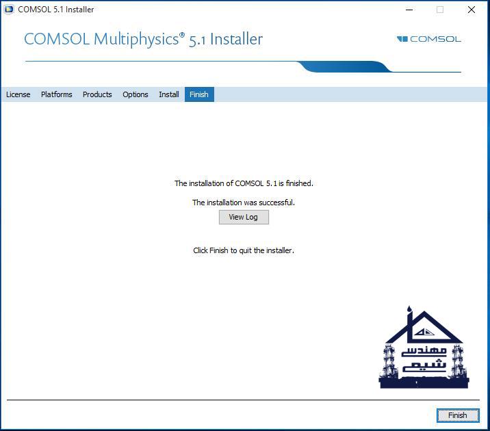 نصب نرم افزار Comsol