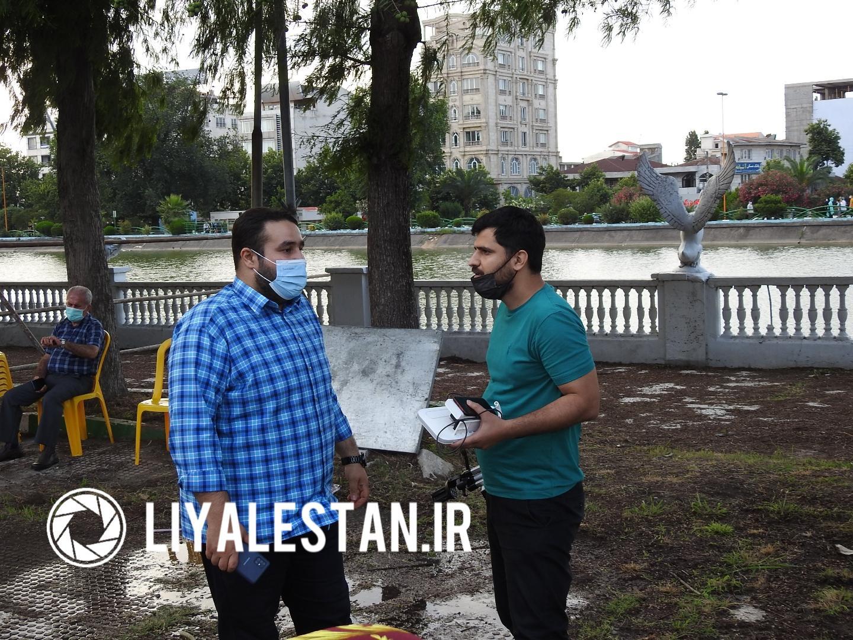بهنام فیروزی خبرنگار خبرگزاری فارس و مازیار امیدی خبرگزاری صداوسیما لاهیجان