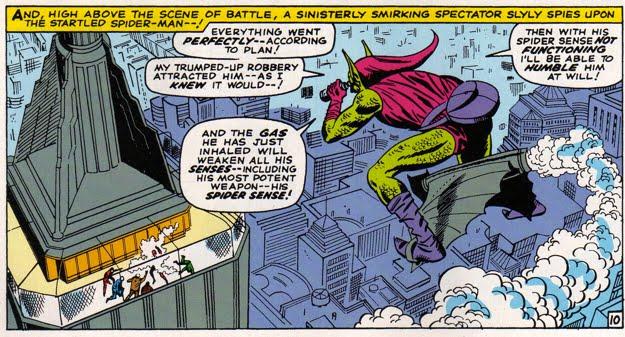 گرین گابلین، گلایدر گرین گابلین، بمب کدویی ، نورمن آزبورن ، مرد عنکبوتی، گلایدر، جن سبز
