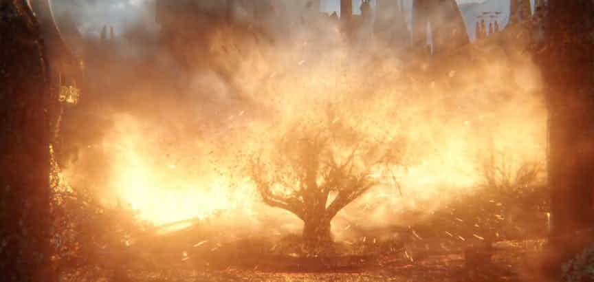 - سوختن درخت عالم