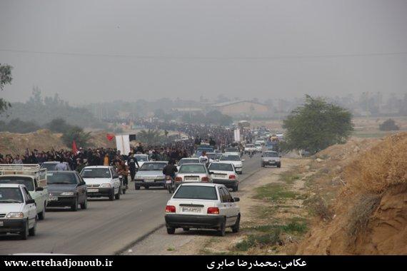 پیاده روی مردم دشتستان