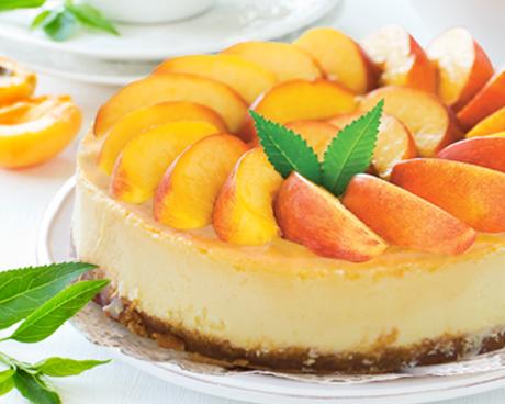 آموزش اشپزی+طرز تهیه دسر+کیک هلو+پنیری