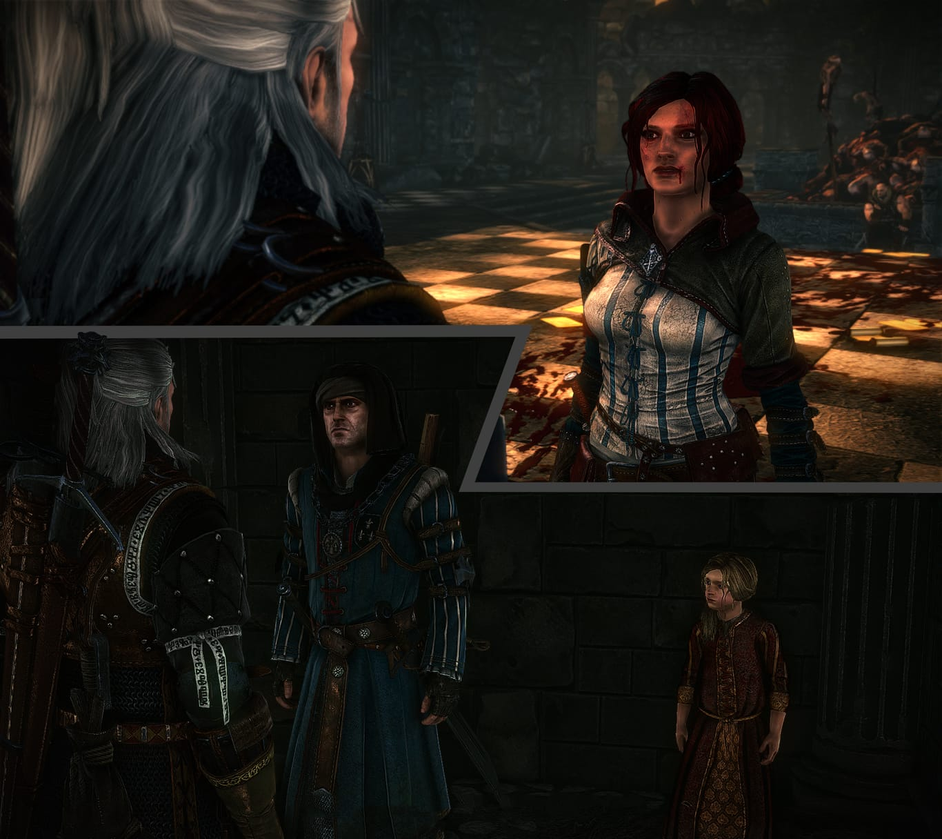 witcher 2 triss merigold or princess anais choice geralt
