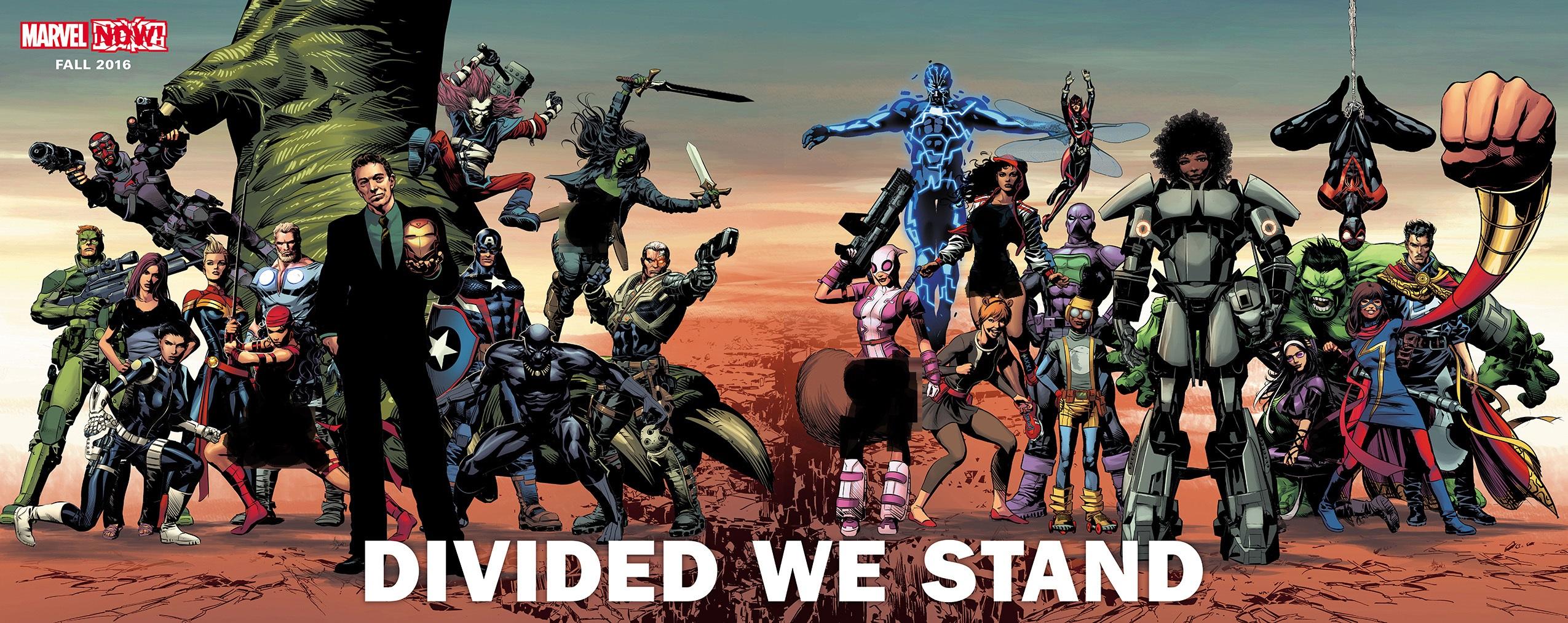 کمیک بوک devided we stand