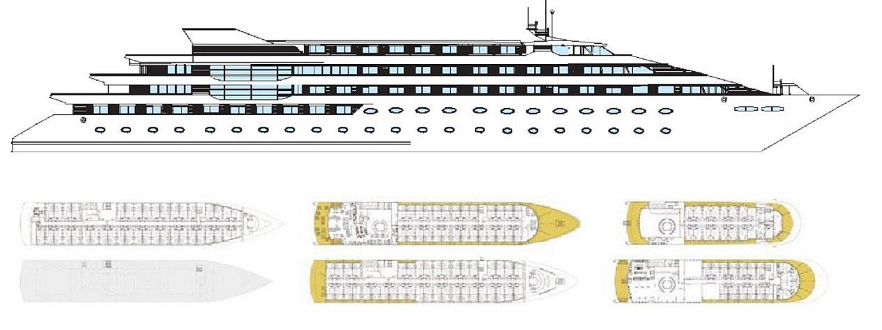 کشتی کروز اقامتی لوکس