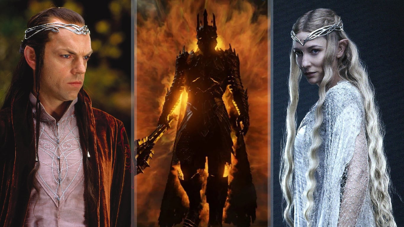 Lord-of-the-Rings-Amazon-Series-returning-characters Galadriel Elrond Sauron