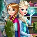 بازی دخترانه السا و آنا در رقابت لباس