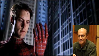 شروین قطعه ای در نقش پیتر پارکر/مرد عنکبوتی در سه گانه سام ریمی