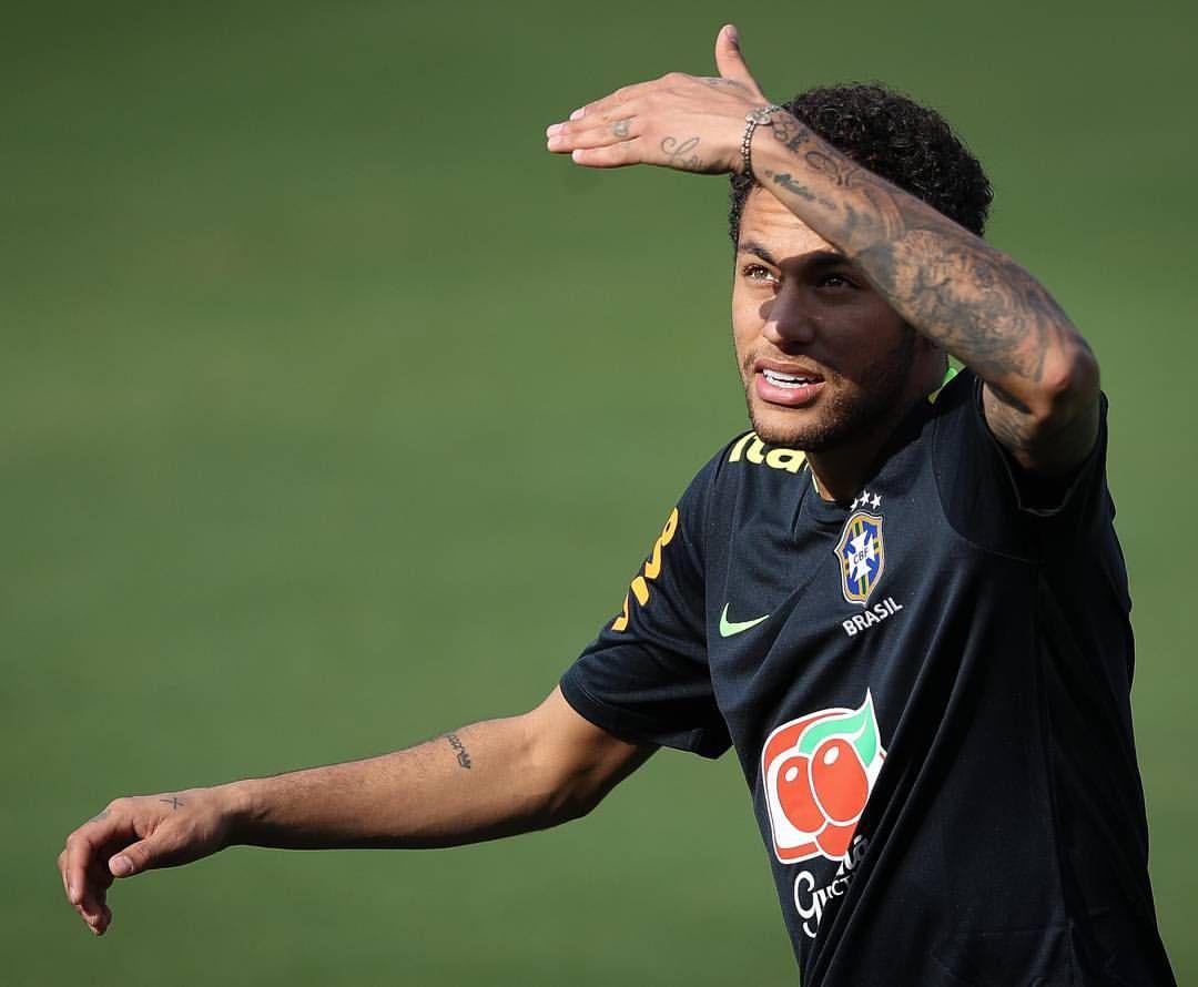 گزارش تصویری: نیمار در تمرینات برزیل _2017/3/22