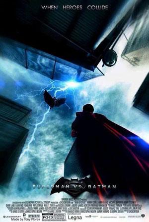 پوستر بتمن بر عليه سوپرمن