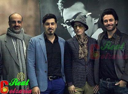 عکس محمدرضا گلزار احسان خواجه امیری و استاد اصفهانی در کنسرت مرتضی پاشایی