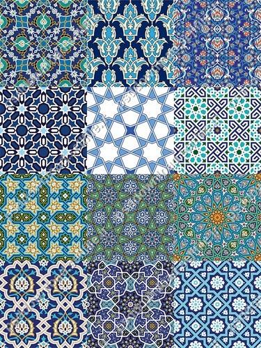 نقوش-سنتی-ایرانی-اسلامی-کاشی