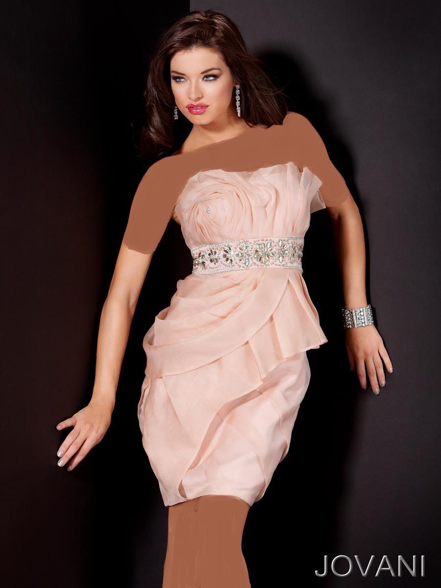 مدل هاي لباس مجلسی و شب کوتاه صورتی 93