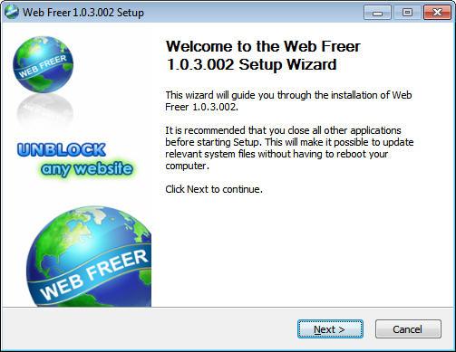 دانلود برنامه دانلود فیلترشکن webfreer