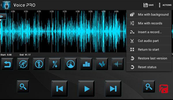 دانلود نرم افزار ویرایش فایل های صوتی و ضبط صدا اندروید Voice PRO 3.2.5