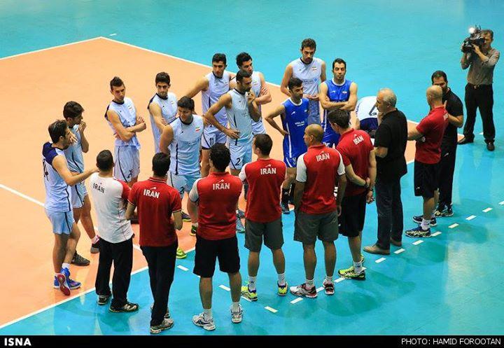 آ ین جلسه تمرین تیم ملی والیبال در آستانه اعزام به مسابقه های جهانی لهستان