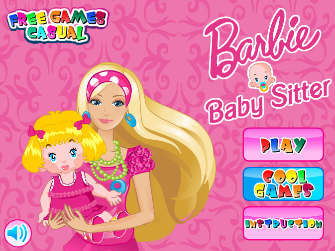 بازی دخترانه باربی پرستار بچه