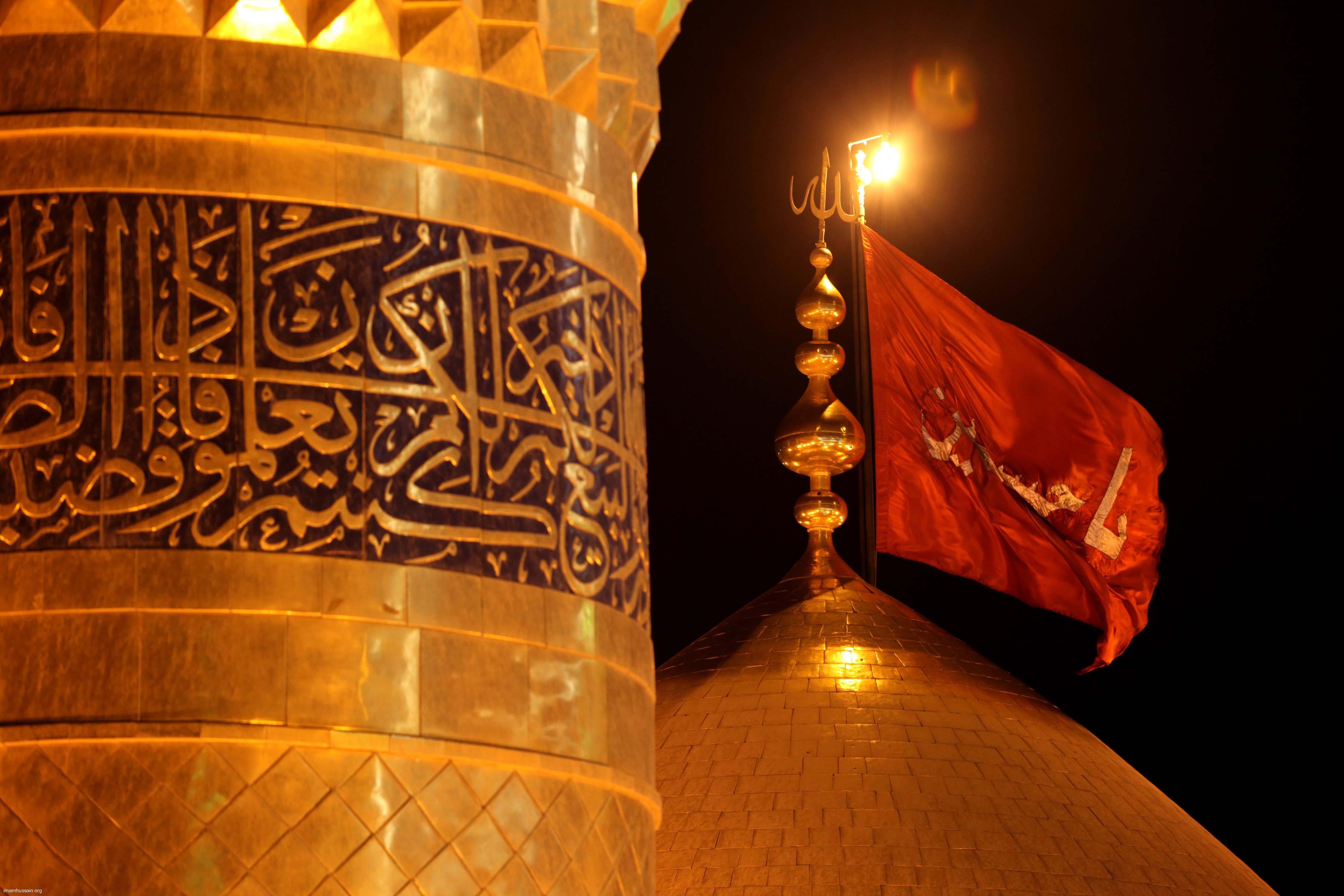 عکس حرم امام حسین وحضرت عباس