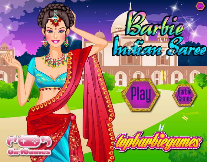 بازی دخترانه باربی با لباس هندی