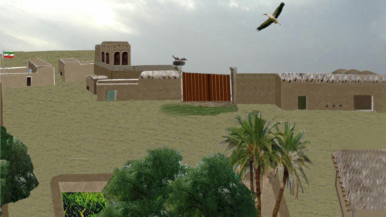 نمایی تخیلی از روستای شیفه در گذشته های دور