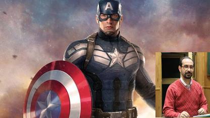 علیرضا باشکندی در نقش کاپیتان آمریکا