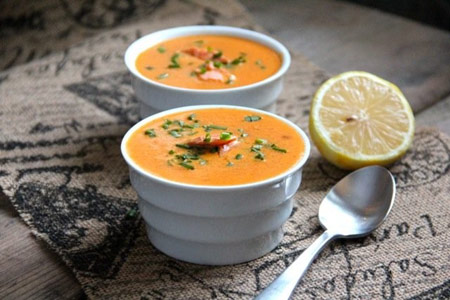 طرز تهیه سوپ سالمون