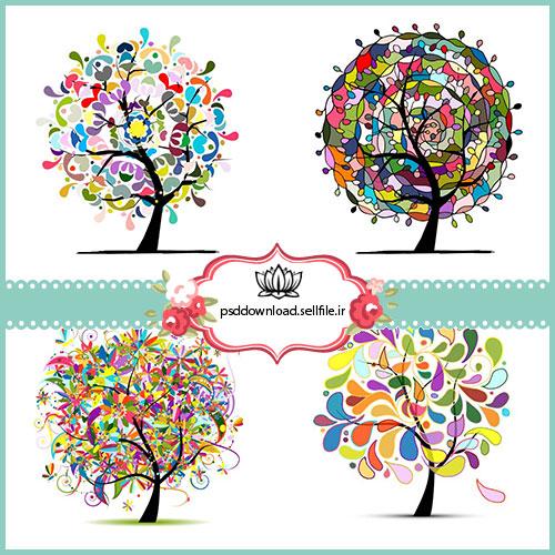 وکتور درخت دکوراتیو