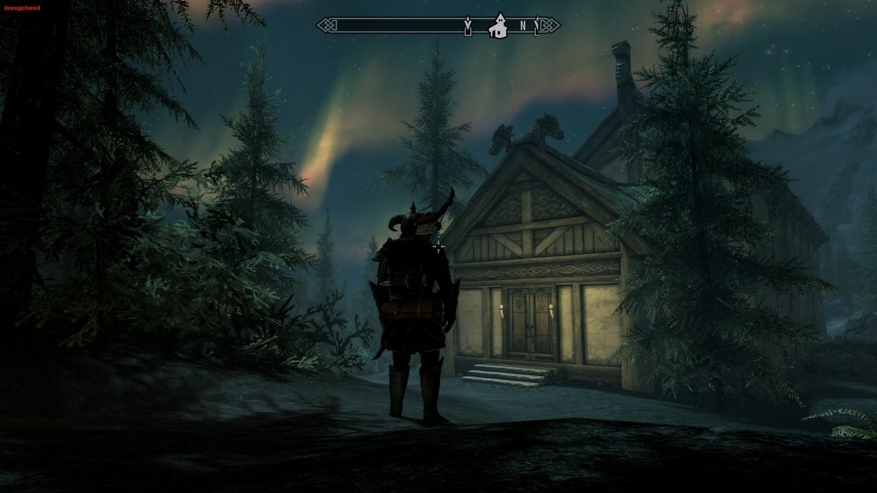 skyrim-lakeview-manor-northern-lights-night