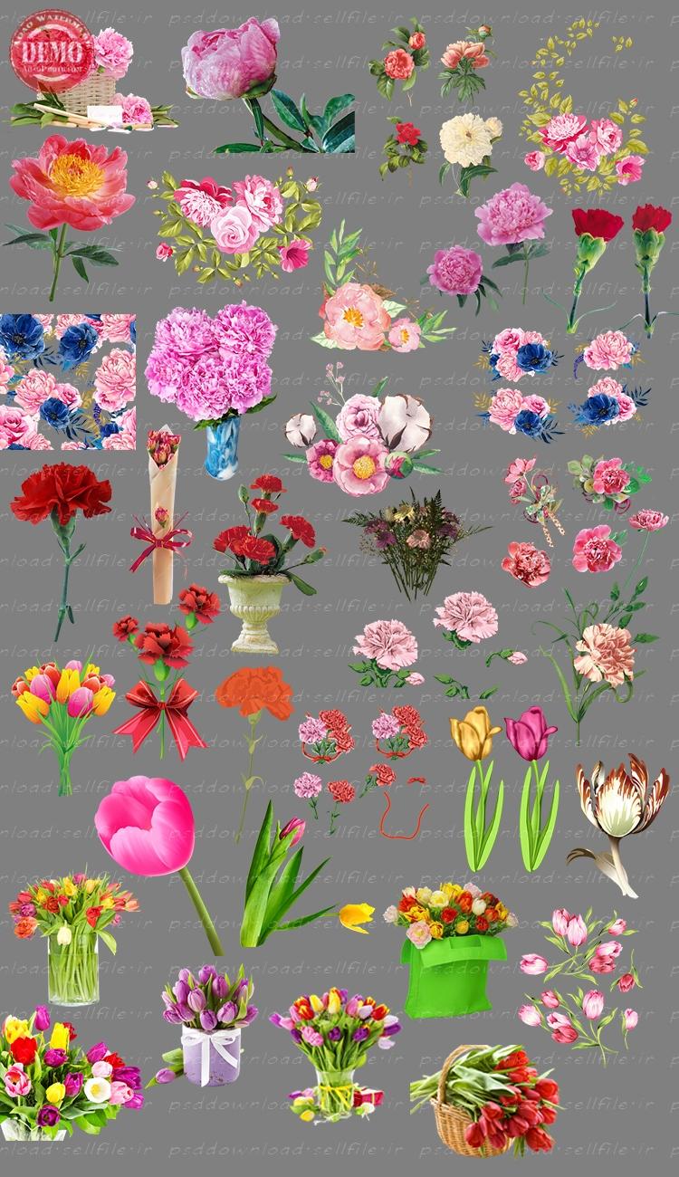 کلیپ آرت گل و گلدان