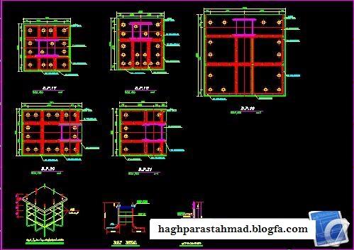 Civil Engineer - پلان های معماریدانلود نقشه سازه ساختمان ۱۰ طبقه فلزی
