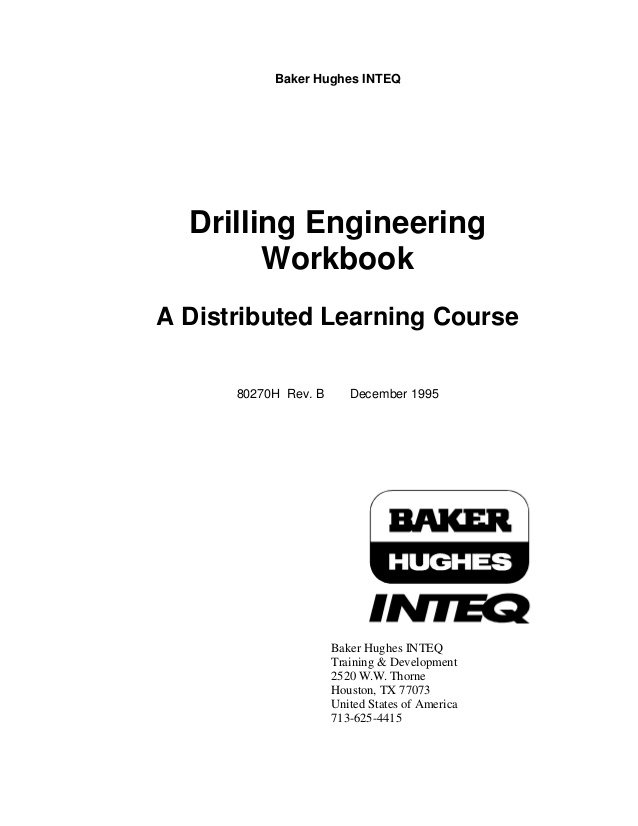 Drilling Eng Workbook