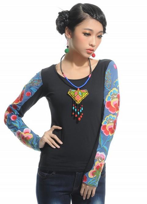 www.ysame.ir-تی شرت آستین بلند زنانه و دخترانه كره اي