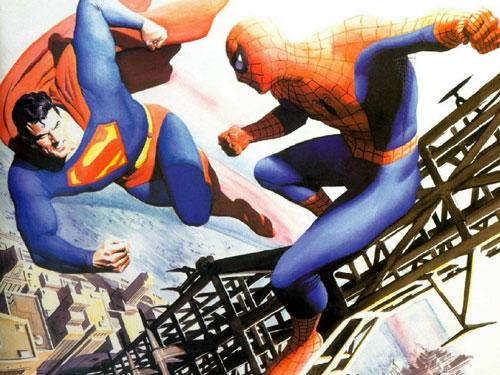 کمیک مرد عنکبوتی سوپرمن