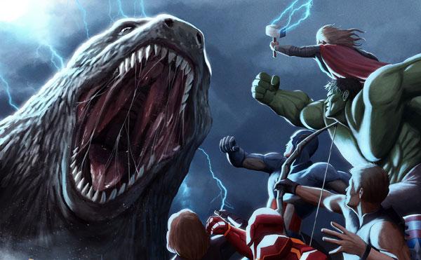 5 نبرد برتر گودزیلا با شخصیت های مارول
