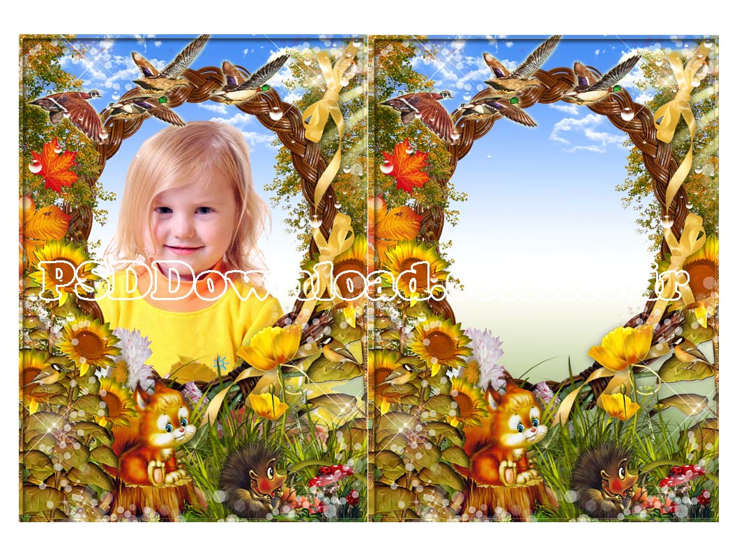 psd frame for children
